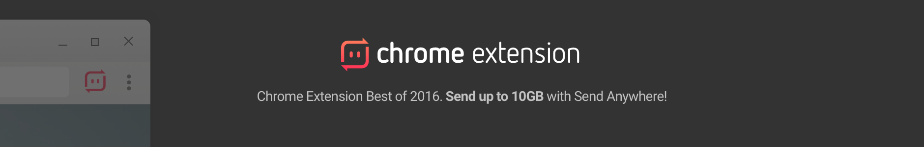 Chrome store banner